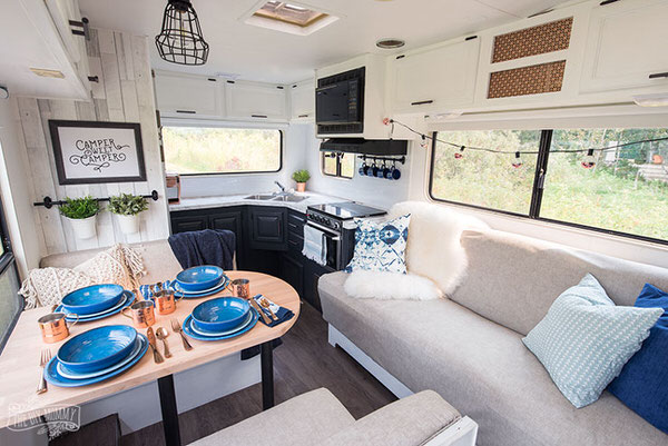 cozy RV remodel-living area after