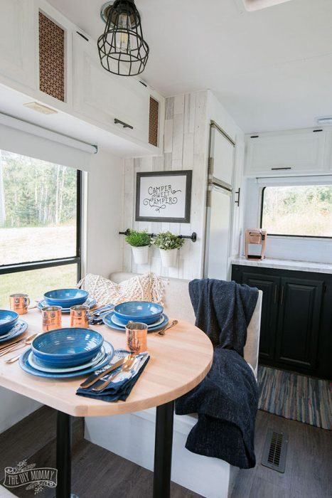 cozy RV remodel-table