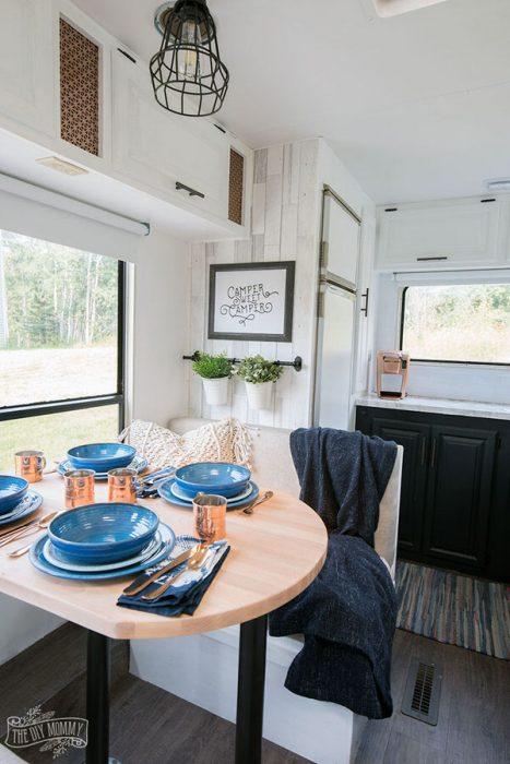 cozy RV remodel-table