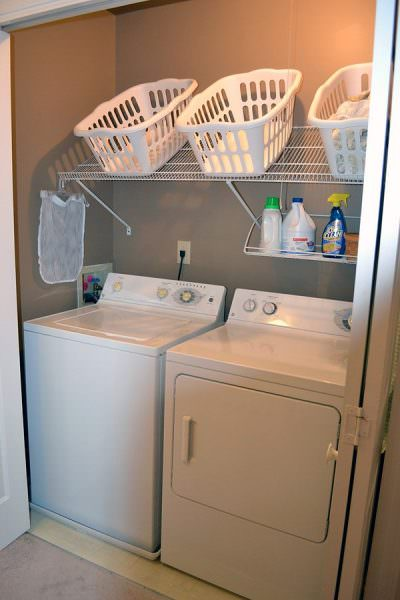 creative remodeling ideas for your mobile home -laundry shelves
