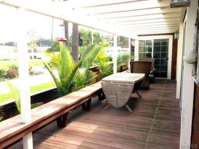 deck area of remodeled double wide manufactured home