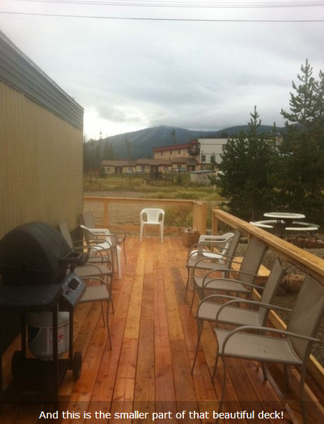 Deck of remodeled mobile home