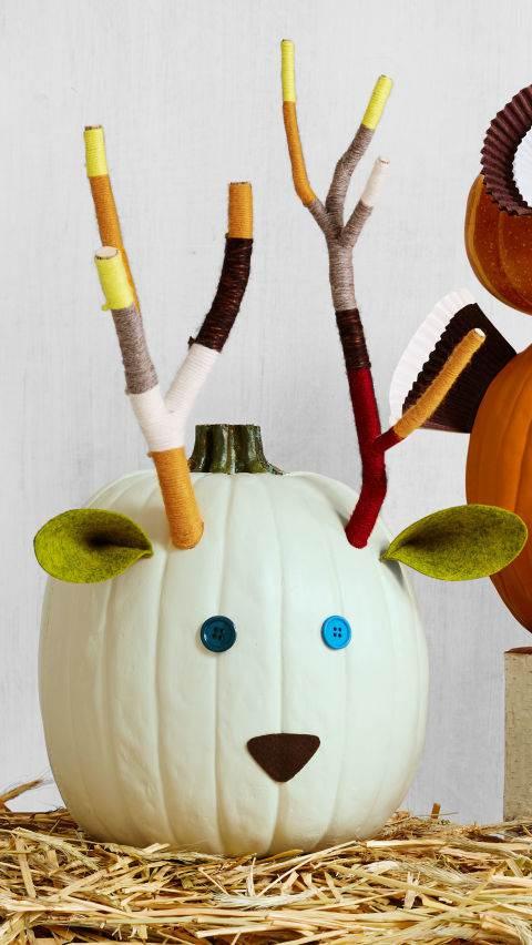 deer pumpkin - DIY fall decorating ideas