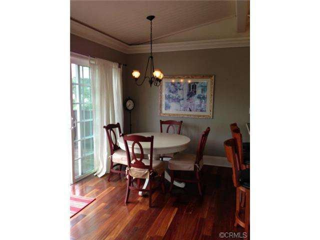 dining area of remodeled double wide manufactured home