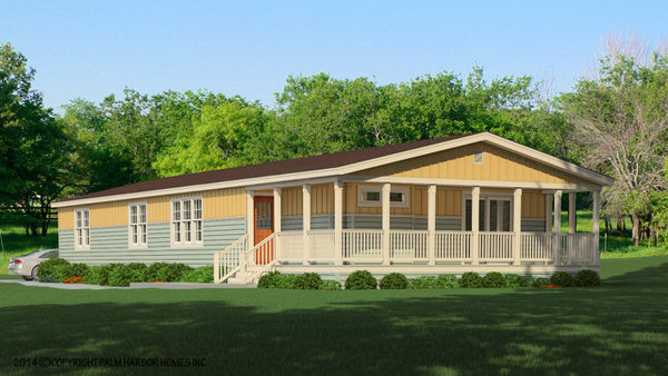 Double wide manufactured home design-exterior option 2