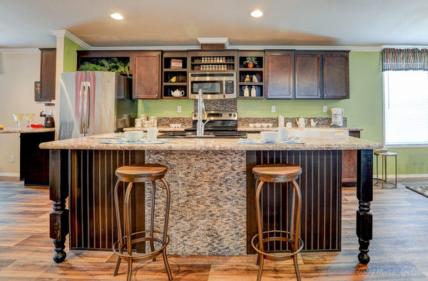 Double wide manufactured home design-kitchen bar