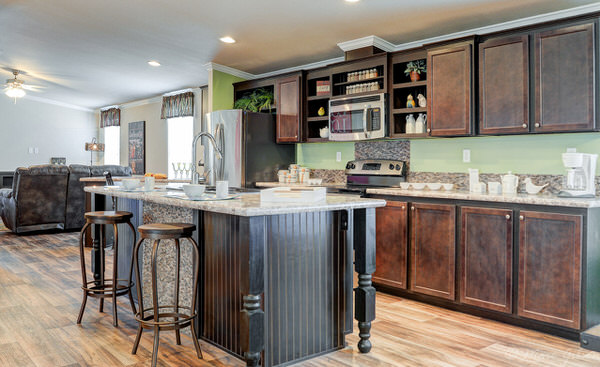 Double wide manufactured home design-kitchen