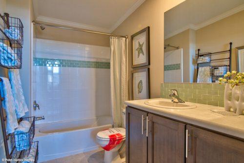 double wide mobile home design-guest bath