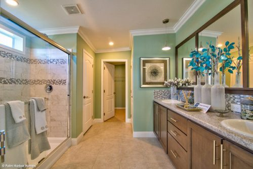 double wide mobile home design-master bathroom