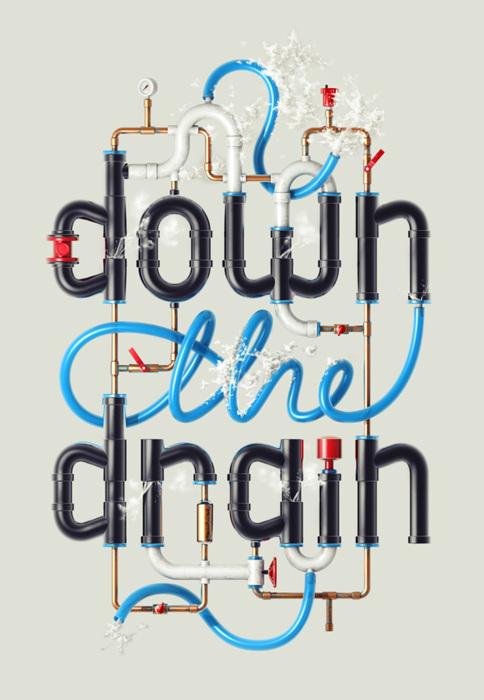 down the plumbing drain