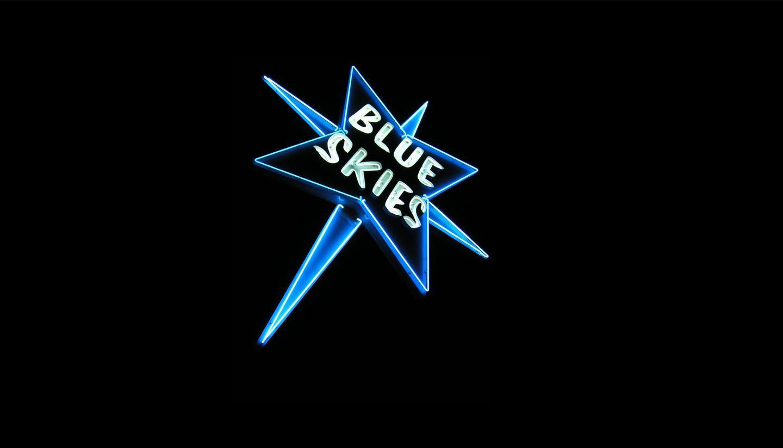 trailer parks-Blue Skies trailer park sign