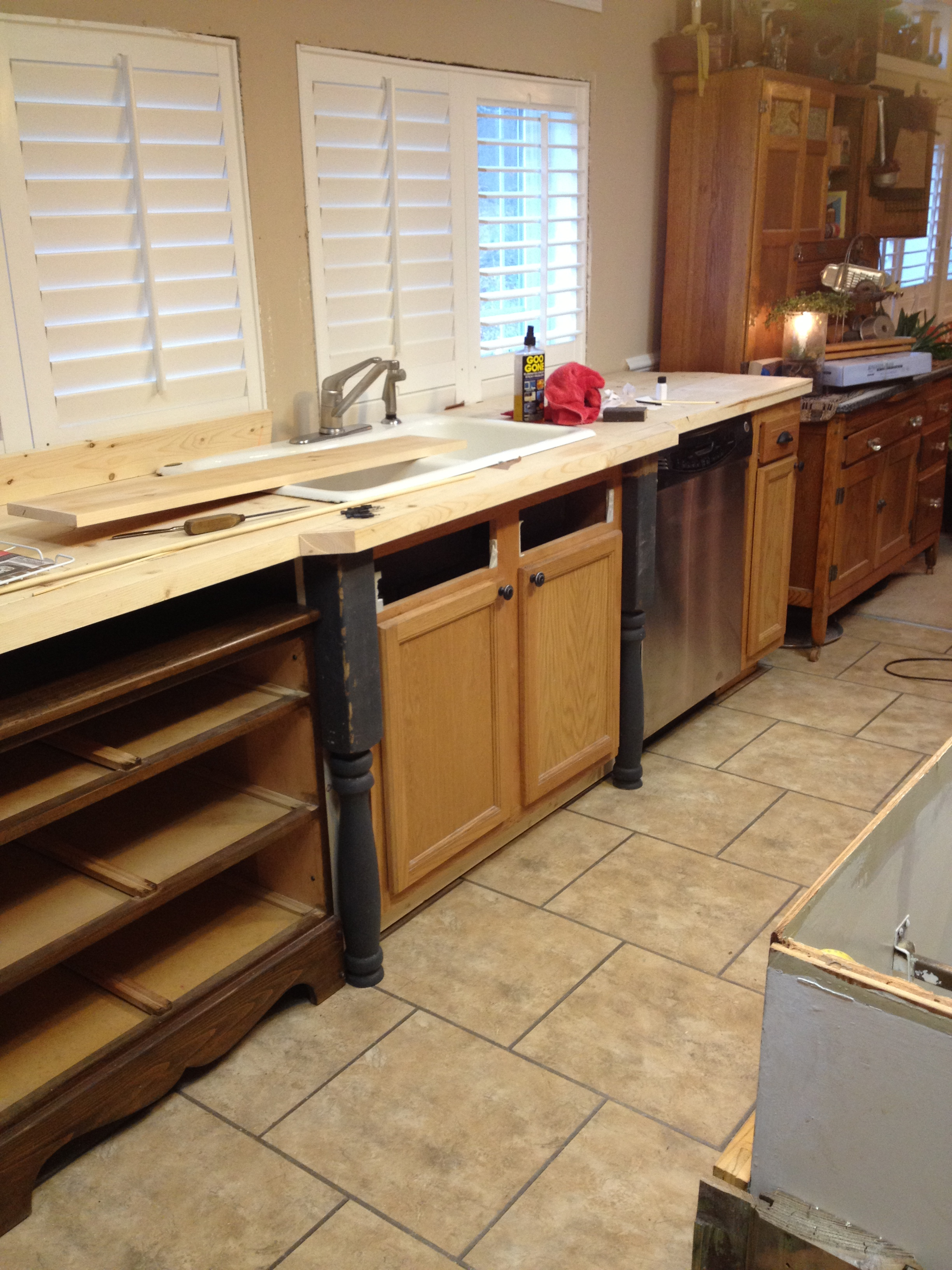 Old world manufactured home kitchen remodel for Old home kitchen remodel