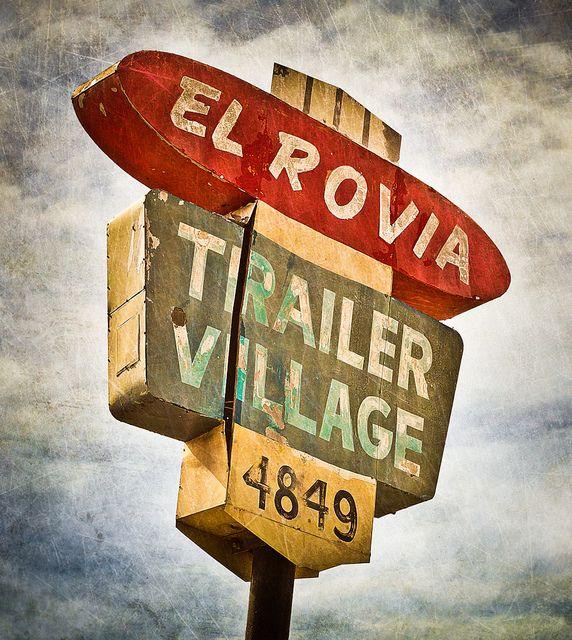 trailer parks-el rova trailer park sign