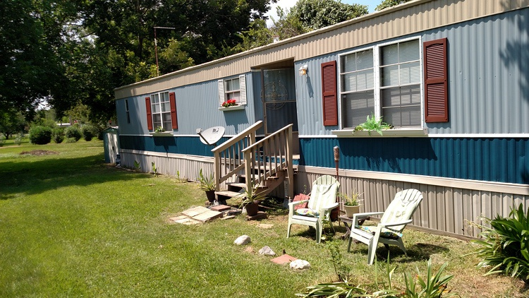 Trininty Bay - Painted Metal Siding on Mobile Home