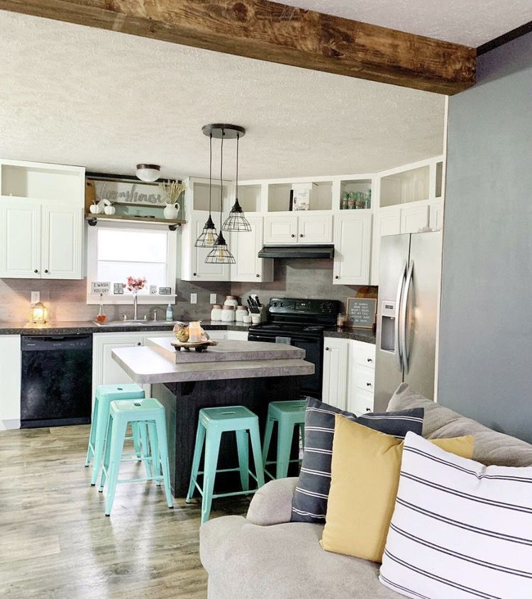 Mobile Home Kitchens: Affordable Farmhouse Style DIY Plywood Flooring Project