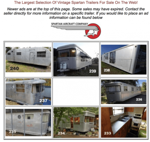 Find vintage travel trailers for sale - spartan trailers