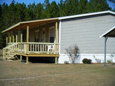 Double wide mobile home porch pictures