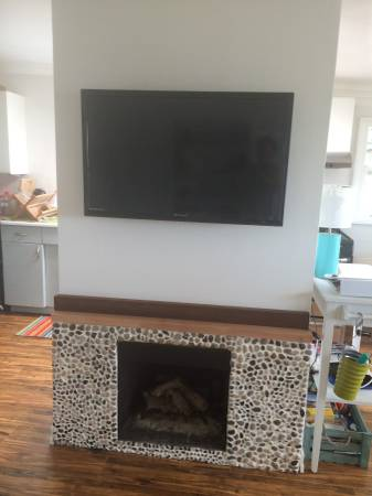 fireplace in mobile home