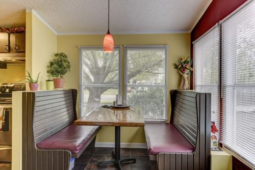 flipping a mobile home-breakfast nook