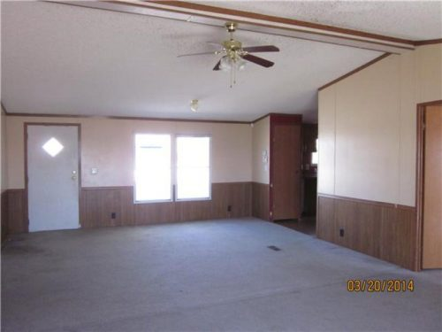 flipping a mobile home-living room before