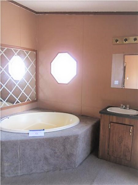 flipping a mobile home-master bath before
