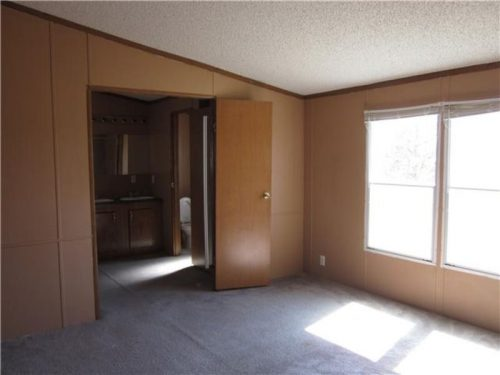 flipping a mobile home-master bedroom before