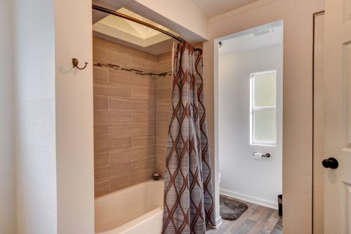 flipping a mobile home-master shower