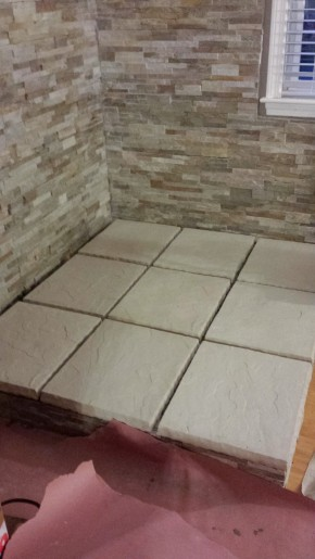 Questions about mobile home subfloors - floor tile finished for stove installation