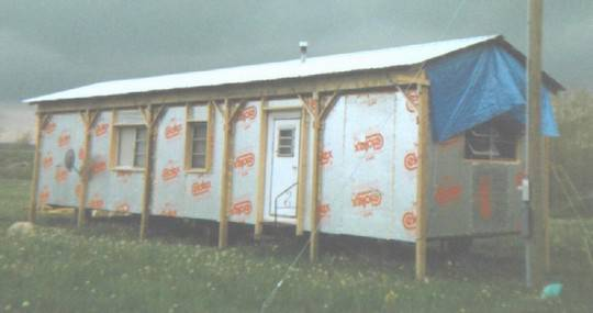 foam celotex insulation attached to a mobile home