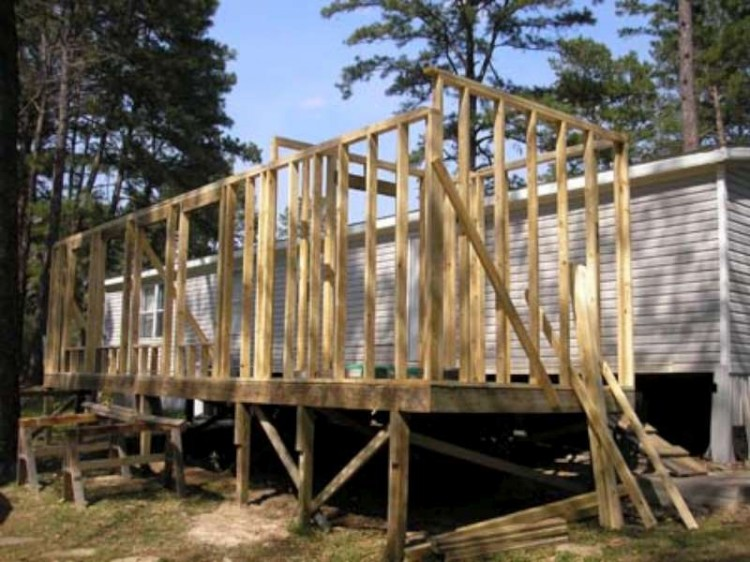 framing of mobile home additions