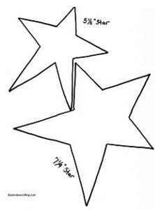 free Barn star printable templates