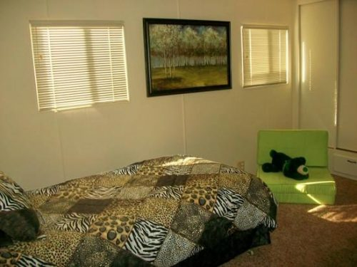 Free mobile home-jungle bedroom