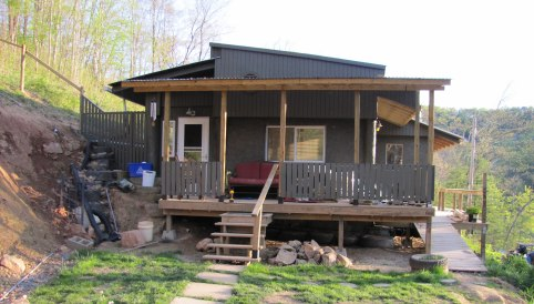 environmentally friendly houses - green mobile home remodel after