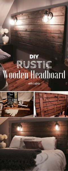 furnish your mobile home with pallets-headboard