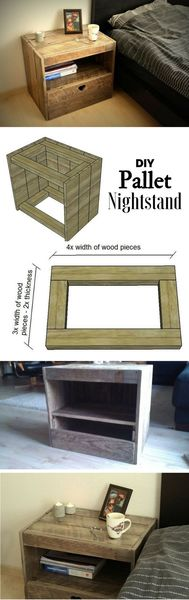 furnish your mobile home with pallets-nightstand
