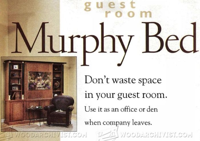 guest room murphy bed instructions