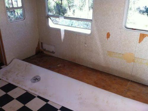gypsy caravan-flooring remodel