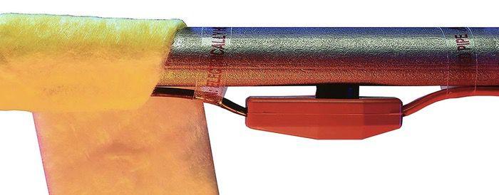 heat tape on metal pipe