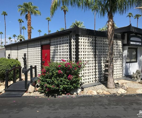 Iconic vintage mobile home-front door