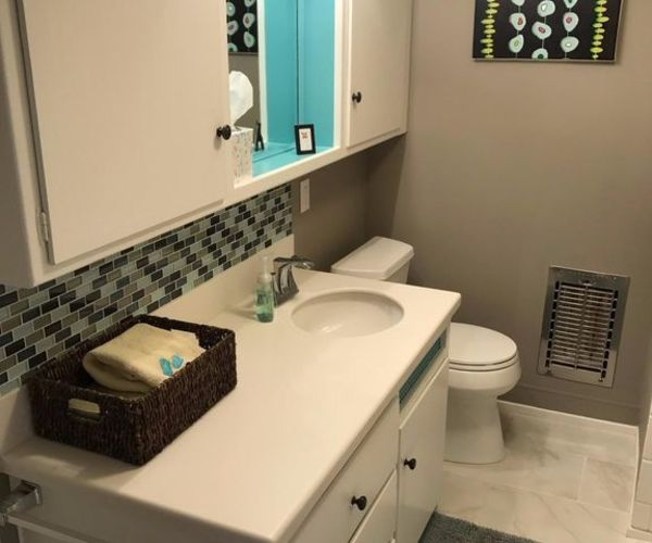 Iconic vintage mobile home-guest bathroom