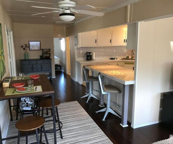 Mobile Home Kitchens: Iconic Vintage Mobile Home In Blue Skies Village