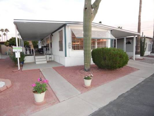 inexpensive mobile homes-desert beauty exterior
