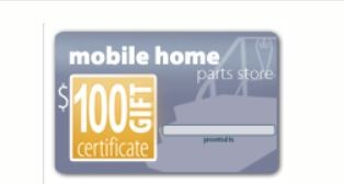 Christmas gifts for mobile home owners- gift card for mobile home supply stores