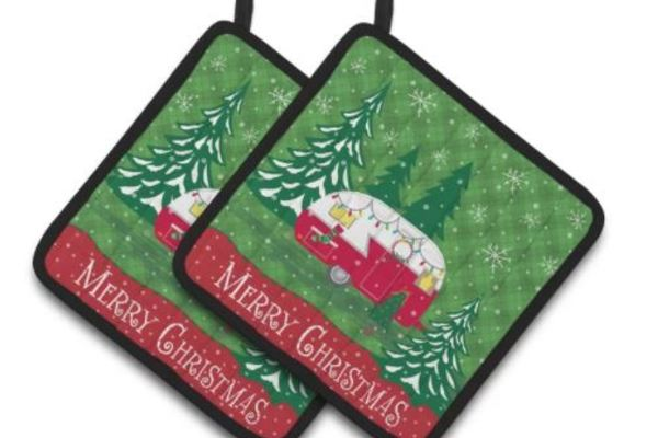 Christmas gifts for mobile home owners-vintage trailer potholders