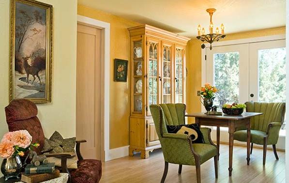 interior designer's manufactured home remodel - before and after photos of manufactured home remodel - dining area after