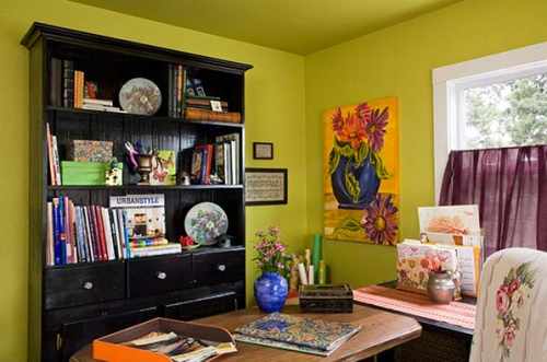 interior designer's manufactured home remodel - before and after photos of manufactured home remodel - home office after