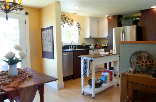 interior designer's manufactured home remodel - before and after photos of manufactured home remodel - kitchen after 2