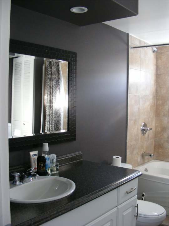 manufactured home bathroom remodel on single wide mobile home