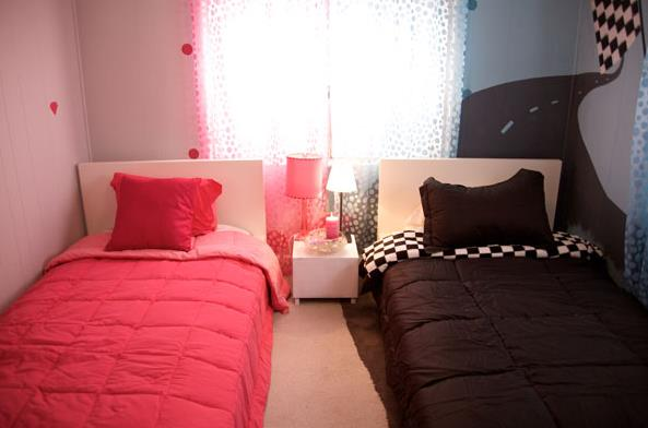 15 mobile home kids bedroom ideas for Bedroom ideas for girls sharing a room