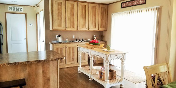 update a new manufactured home - kitchen